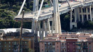 Le pont Morandi à Gênes (Italie), le 16 août 2018. (STEFANO RELLANDINI / REUTERS)