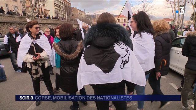 Corse : mobilisation des nationalistes