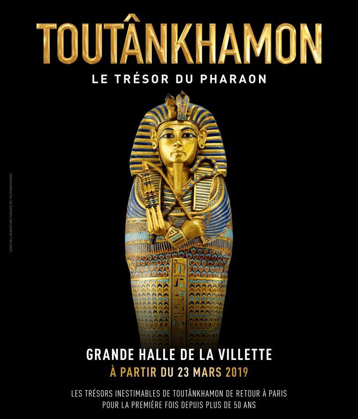 """Affiche de l'exposition """"Toutânkhamon, le Trésor du Pharaon"""" (DR """"Toutânkhamon, le trésor du pharaon"""")"""