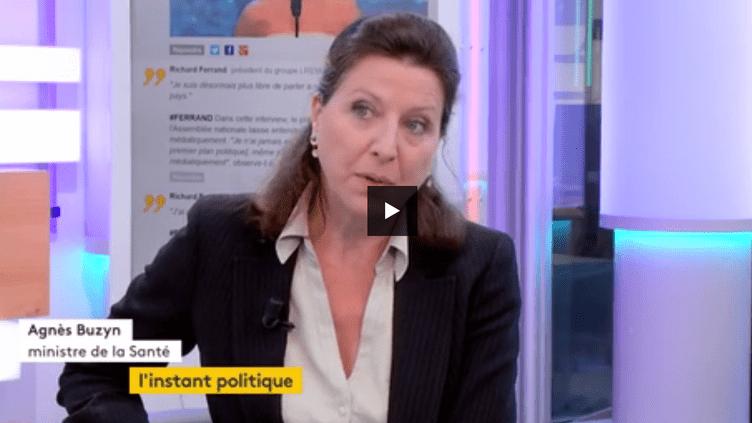 Agnès Buzyn, ministre des Solidarités et de la Santé. (FRANCEINFO)