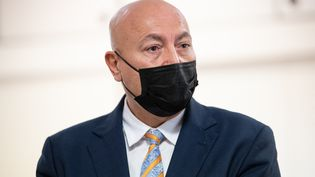 Éric Maurel, le procureur de la République de Nîmes, le 13 mai 2021. (CLEMENT MAHOUDEAU / AFP)