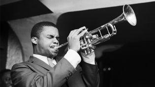 Le trompettiste américain de jazz Donald Byrd à Parisen 1961. (ROGER KASPARIAN)