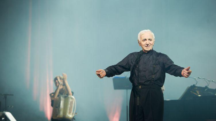 Charles Aznavour à Erevan (Arménie), le 12 mai 2014. (LCHAM / SIPA)