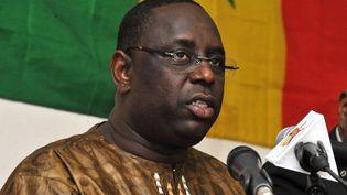 Macky Sall, Premier ministre de Wade de 2004 à 2007, a fait campagne sur le thème de la rupture avec son ancien mentor. (SEYLLOU / AFP)