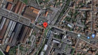 L'usine d'Aubert et Duval à Pamiers (Ariège). Un incendie s'est déclaré sur le site ce vendredi 10 septembre 2021. Les autorités parlent de risques toxiques, les riverains sont appelés à rester confinés (Google maps)