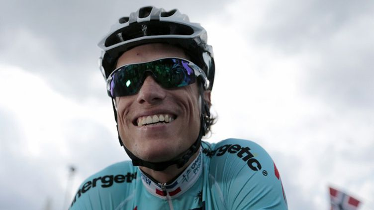 Sylvain Chavanel tout sourire sur le Tour 2012 (JOEL SAGET / AFP)