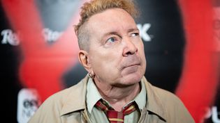 """John Lydon, ex-chanteur des """"Sex Pistols"""", le 4 mars 2019, à Los Angeles (USA). (EMMA MCINTYRE / GETTY IMAGES NORTH AMERICA / AFP)"""
