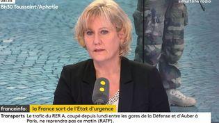 Nadine Morano, eurodéputée Les Républicains (LR) invitée de franceinfo, mercredi 1er novembre 2017. (RADIO FRANCE)