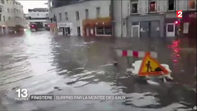 Finistère : Brest sous les eaux