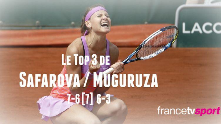 Impériale du début à la fin, Lucie Safarova est parvenue à faire craquer l'Espagnole Garbine Muguruza.
