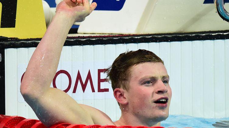 Adam Peaty, nouveau recordman mondial du 50m brasse (CHRISTOPHE SIMON / AFP)
