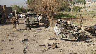 Une attaque à la bombe àShinwar (Afghanistan)commandités par lesTalibans, le 3 octobre 2020. (CHINE NOUVELLE/SIPA / XINHUA)