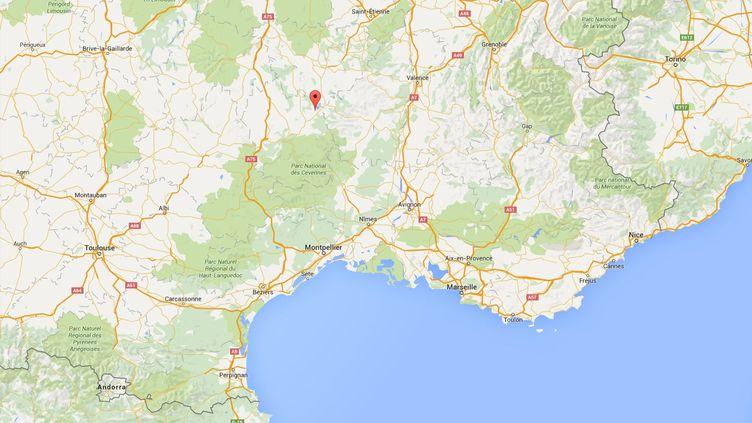 La famille deMarlind Plasa, un Albanais assigné à résidence, vit dans la commune de Rocles, en Ardèche. (GOOGLE MAPS)
