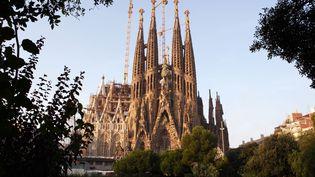 La basilique de la Sagrada Familia, le 15 octobre 2018 à Barcelone (Espagne). (MANUEL COHEN / AFP)