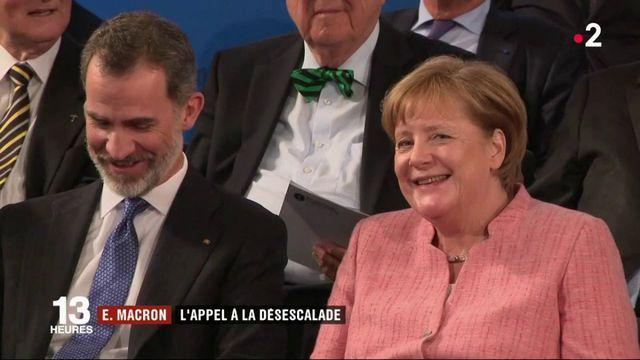 Emmanuel Macron : l'appel à la désescalade