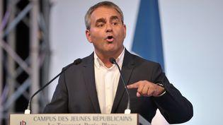 Xavier Bertrand, le député-maire Les Républicains de Saint-Quentin (Aisne) et tête de liste aux régionales en Nord-Pas-de-Calais-Picardie, le 12 septembre 2015 au Touquet (Pas-de-Calais). (FRANCOIS LO PRESTI / AFP)