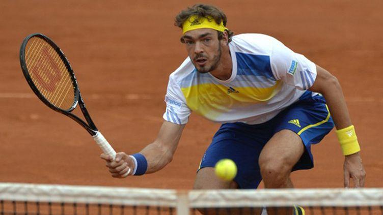Guillaume Rufin sur la terre battue de Roland-Garros (MIGUEL MEDINA / AFP)