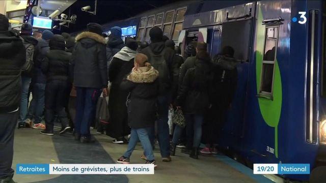 Grève des transports : le trafic SNCF en nette amélioration