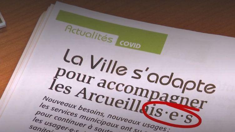 écriture inclusive (FRANCEINFO)