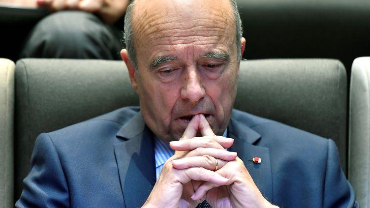 Le maire de Bordeaux, Alain Juppé, le 3 octobre 2016 à Bordeaux (Gironde). (GEORGES GOBET / AFP)