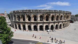 Les arènes de Nîmes, en mai 2018. (PASCAL GUYOT / AFP)