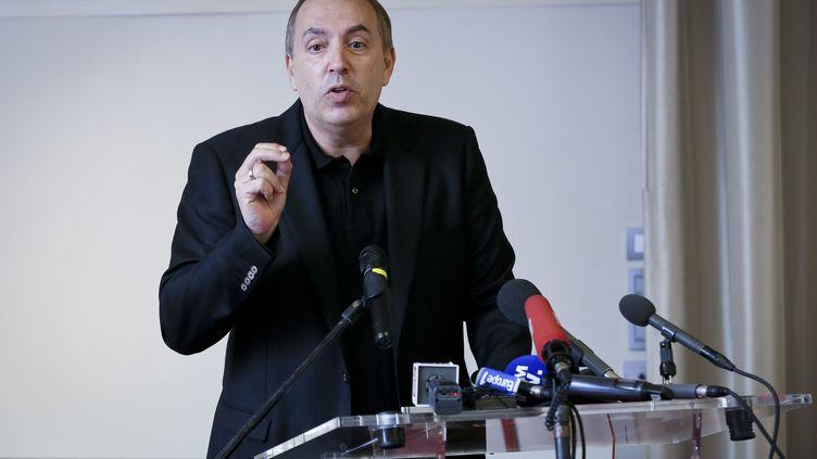 Jean-Marc Morandini en conférence de presse à Boulogne-Billancourt (Hauts-de-Seine), le 19 juillet 2016. (MAXPPP)