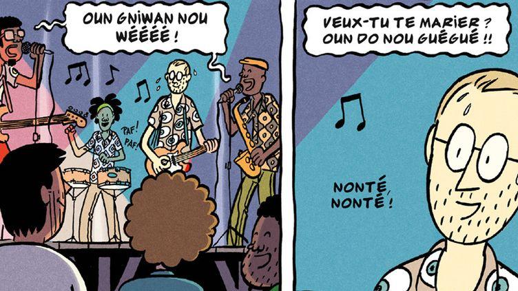 """""""Les deux vies de Baudouin"""" (Delcourt), page 209  (Fabien Toulmé)"""
