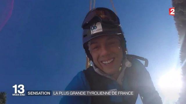 Découverte : une descente avec la plus grande tyrolienne de France