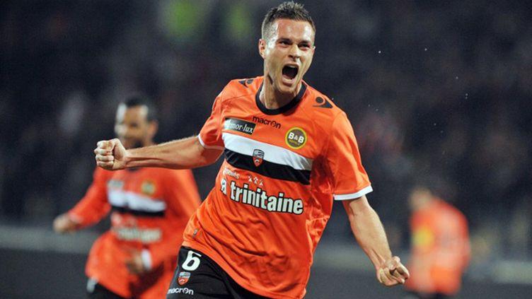 Grégory Bourillon a ouvert le score face à Lille. (FRANK PERRY / AFP)