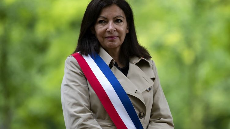 Anne Hidalgo,lors d'une cérémonie au Luxembourg sur l'abolution de l'esclavage, le 10 mai 2020 à Paris. (IAN LANGSDON / AFP)