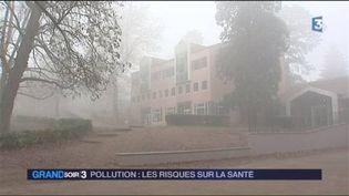 Illustration de la pollution à Lyon (FRANCE 3)