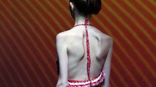 Un mannequin anorexique lors d'un salon de pap en 2008  (IP3 PRESS/MAXPPP)