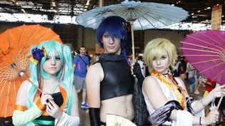Des visiteurs habillés en personnages de mangas au 15e salon Japan Expo de Villepinte (3 juillet 2014)  (François Loock/Citizenside/AFP)