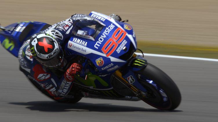 L'Espagnol Jorge Lorenzo (Yamaha) (JORGE GUERRERO / AFP)