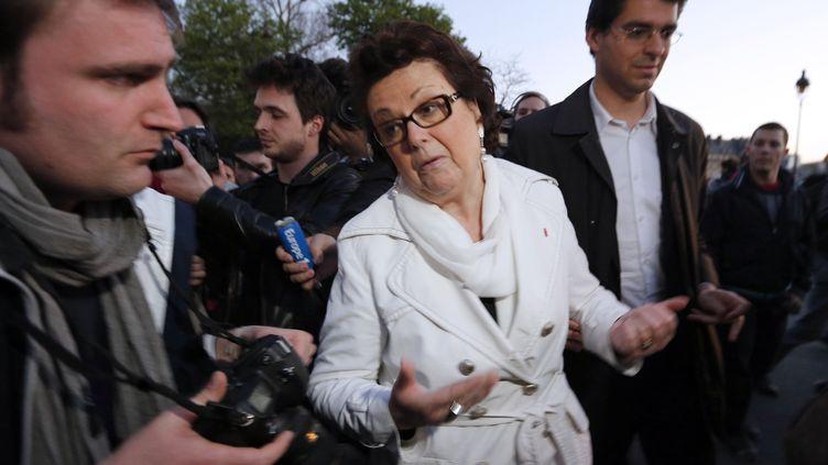 Christine Boutin lors d'une manifestation anti-mariage pour tous, le23 avril 2013 à Paris. (FRANÇOIS GUILLOT / AFP)