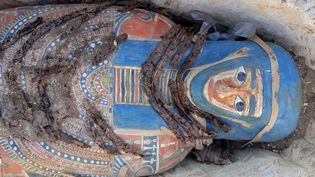 Sarcophage à Dahchour en Egypte  (Egyptian Ministry of Antiquities / AFP)