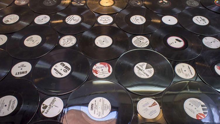 La vitrine d'un disquaire pour le Record Store Day.  (Richard B.Levine / Newscom / Sipa)