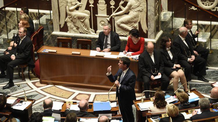 L'Assemblée nationale, pendant une séance de Questions au gouvernement, le 15 décembre 2015. (ERIC FEFERBERG / AFP)