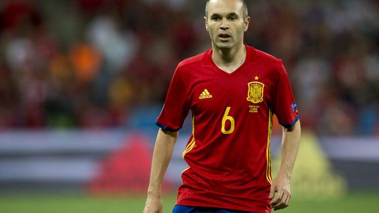 Le milieu de terrain de l'équipe d'Espagne, Andres Iniesta (ANDREW SURMA / NURPHOTO)