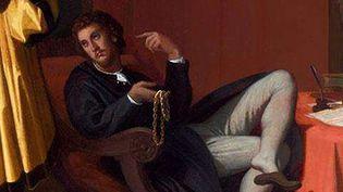 """""""L'Arétin et l'envoyé de Charles Quint"""" (extrait), Jean-Auguste-Dominique Ingres, 1848  (DR)"""