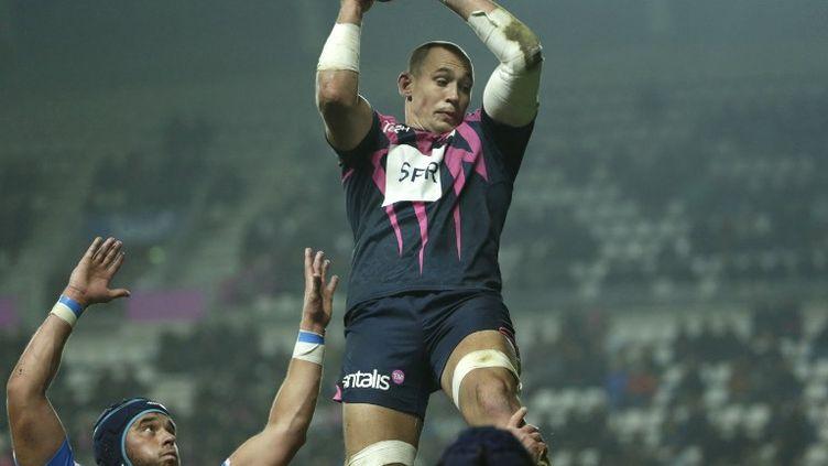 Le troisième ligne italien et capitaine du Stade Français, Sergio Parisse. (KENZO TRIBOUILLARD / AFP)