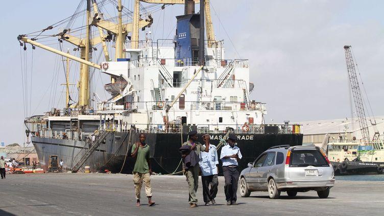 Vue du port de Mogadiscio en Somalie. (FEISAL OMAR / X02643)