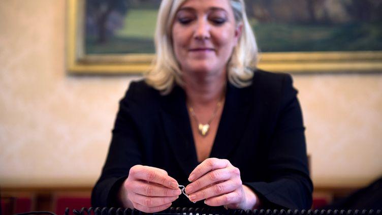 Marine Le Pen, présidente du FN, le 4 décembre 2012 à Paris. (MARTIN BUREAU / AFP)