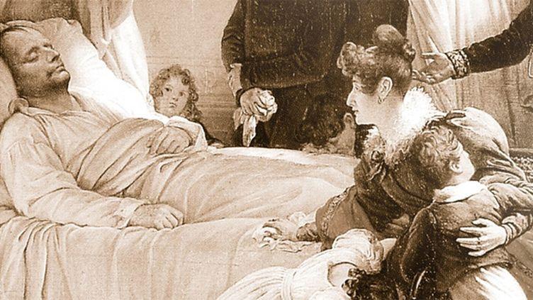 Napoléon sur son lit de mort.  (Maison de vente Osenat)