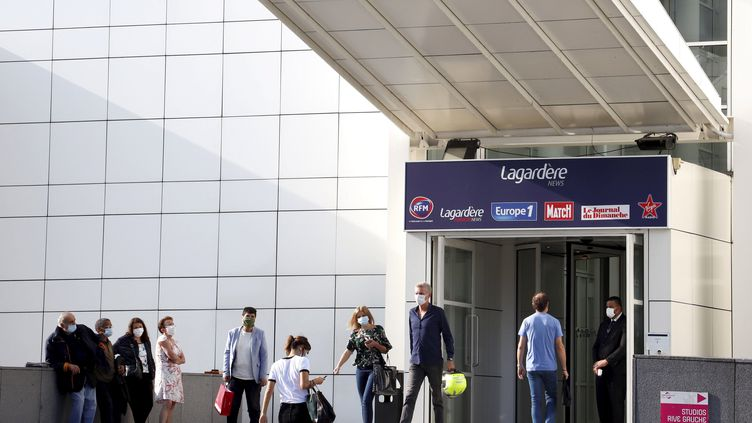 Le siège d'Europe 1 et de plusieurs autres rédactions du groupe Lagardère, à Paris, le 11 septembre 2020. (MAXPPP)