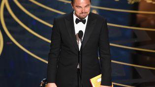 Leonardo DiCaprio, à Los Angeles (Etats-Unis), le 28 février 2016. (KEVIN WINTER / GETTY IMAGES NORTH AMERICA)