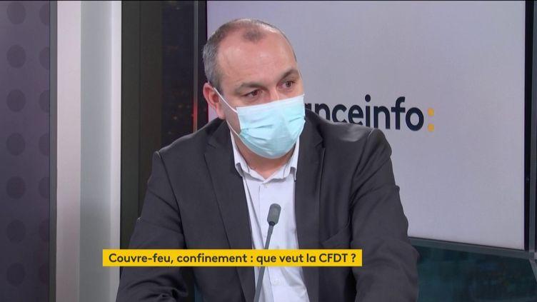 Laurent Berger, le secrétaire général de la CFDT, invité de franceinfo, mardi 26 janvier 2021. (FRANCEINFO)