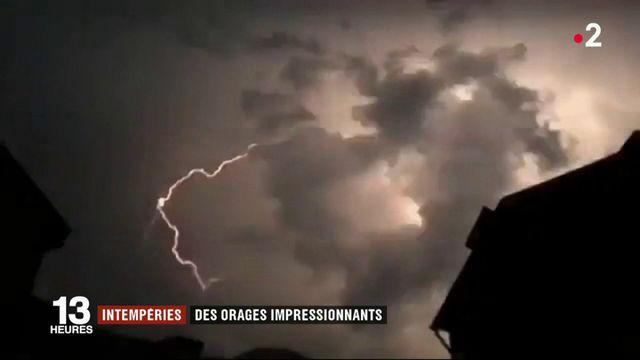 Intempéries : des orages impressionnants