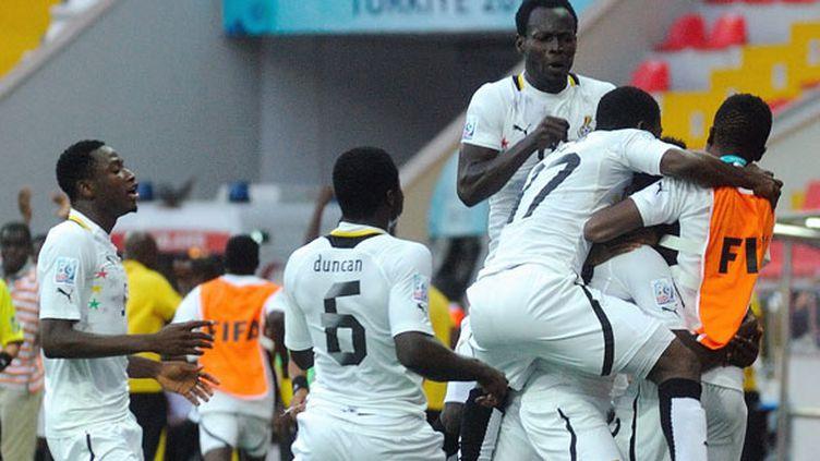 La joie des joueurs ghanéens