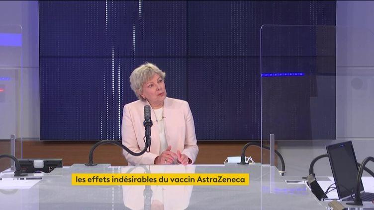 PrDominique Le Guludec, présidente de la Haute Autorité de Santé, invitée de franceinfo jeudi 25 mars 2021.  (FRANCEINFO / RADIO FRANCE)
